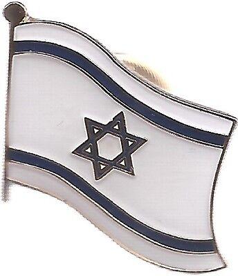 LOT OF 12 Israel Flag Lapel Pins - Israeli Flag Pin