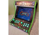 Arcade machine Mortal Kombat Design Retro Games gamers machine.Bartop Cabinet