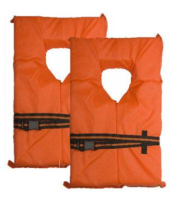 Rescue Vest Type (Universal Adult Type II PFD Life Jacket Orange Rescue Flotation Vest - 2)