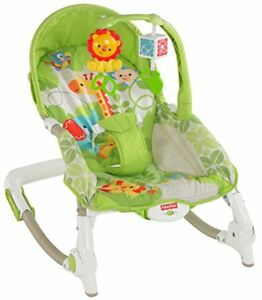 Fisher-Price Newborn-to-Toddler Portable Rocker, Green Safari