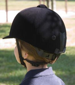 Black Velvet Equestrian Riding Helmet (Youth)