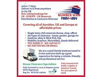 Number Wan - Man & Van CALL FOR THE BEST PRICE IN AYRSHIRE