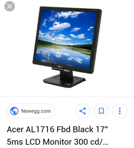 """Acer 17"""" LCD PC Monitor"""