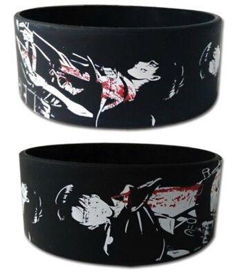 Attack On Titan Pvc Wristband Eren   Levi Anime Manga License Authentic  New