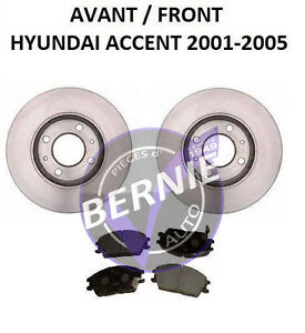 FRONT BRAKE KIT HYUNDAI ACCENT 2000-2011 FREIN AVANT