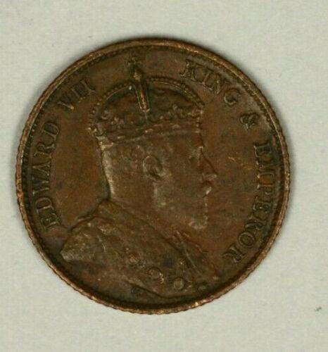 Straits Settlements 1/4 Cent 1908   XF A1026
