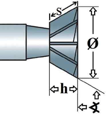Winkelfräser HSS, DIN 1833C, Fräserwinkel 45 Grad oder 60 Grad