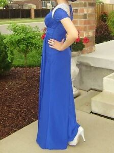 Rianna Couture Blue Prom Dress with Sleeves