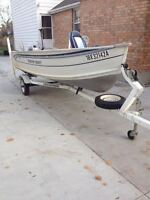 14 Ft Smoker Craft and Northtrail Trailer