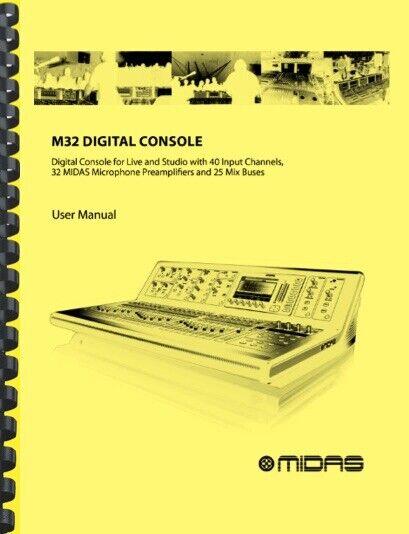 MIDAS M32 Digital Mixer Console OWNER S MANUAL - $19.95
