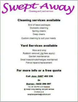 Swept away cleaning and yard services Launceston 7250 Launceston Area Preview