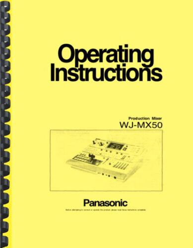 Panasonic WJ-MX50 Video Mixer OPERATING INSTRUCTIONS MANUAL