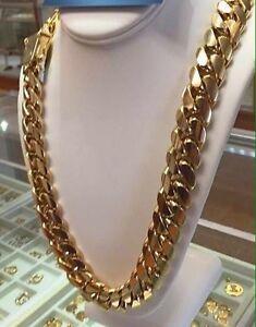 Gold chain Miami Cuban link Peterborough Peterborough Area image 6