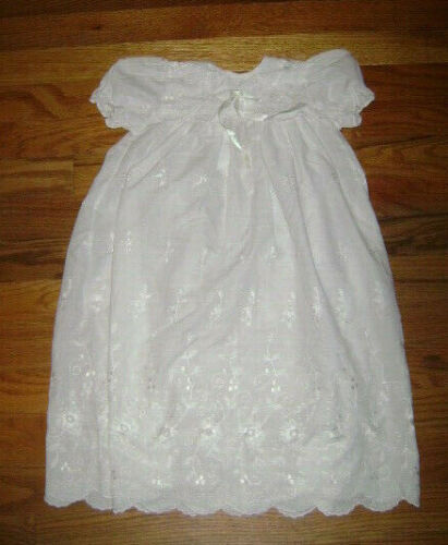 ALEXIS 9557 Baby Boys Girls Long White Christening Gown Dress 9 Months