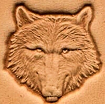 3D WOLF FACE HEAD LEATHER STAMP 88459-00 Tandy Stamping Craft Tool Stamps Tools