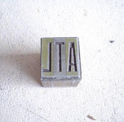 Vintage Wood Metal Printers Block Letters Atl For Atlanta