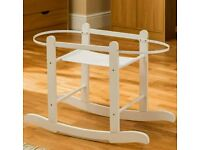 Kinder valley white Rocking moses basket stand. Brand new in sealed boxes. Fits all moses baskets.