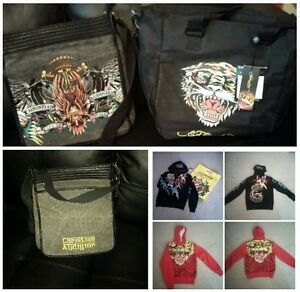 Ed Hardy by Christian Audigier Hoodies, and bags.