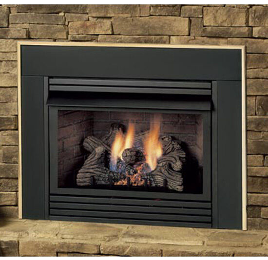 dis33 ventless propane or natural gas fireplace insert vent free logs