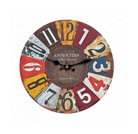 Wanduhr Uhr Vintage Colours Shabby Retro Quarzuhr Design Ø 28 cm Bunt