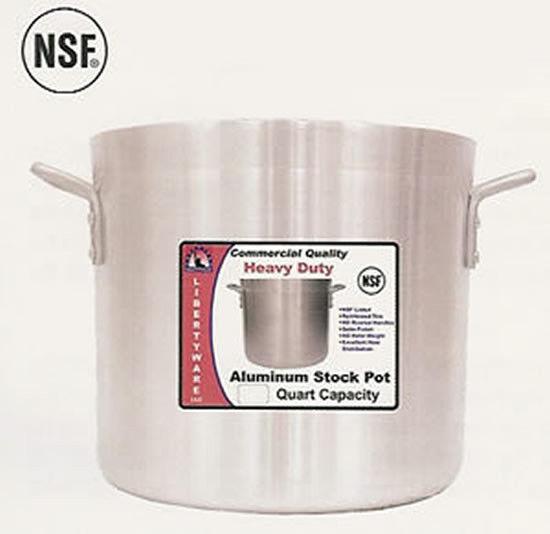 80  quart stock pot heavy duty aluminum 6mm thick wall
