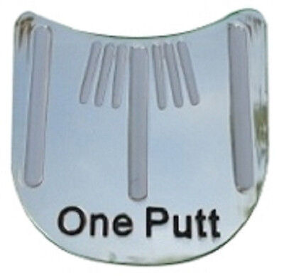 (One Putt Golf Ball Marker - Package of 2 - Unique Line it up design)