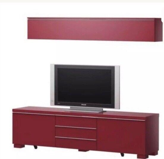 Ikea Tv Bench Besta Burs Mounted Wall Dvd Storage Unit In Troon South Ayrshire Gumtree
