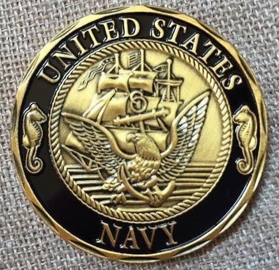 Incredible US Navy Shellback Over sized Golf Ball Marker Challenge Coin
