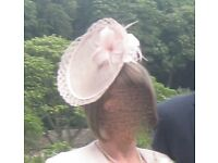 Phase Eight Fascinator in soft pink - worn once!