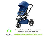 QUINNY MODD BLUE RELIANCE WITH CARRYCOT & CAR SEAT 3 IN 1 -- Read the ad desc before replying!!!