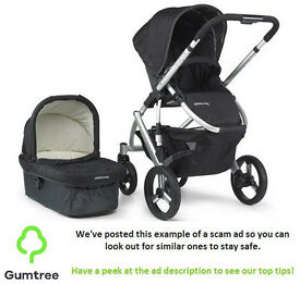 Uppababy Vista Pushchair In Jake Black 2015