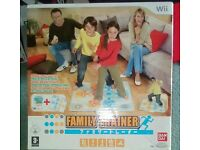 Wii Family Trainer game with Mat
