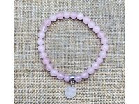 Rose Quartz 8mm Bead Bracelets - JOB LOT of 210 individually packed - Perfect for Valentines Promos