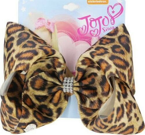🐆New 2020 Jojo Siwa Bow Leopard Print with Rhinestones