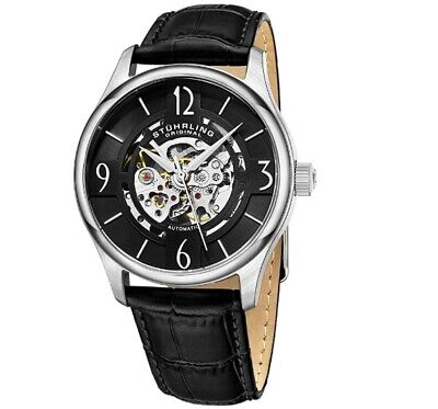 Stuhrling Original Mens Specialty Atrium Skeleton Automatic Self Winding Dress