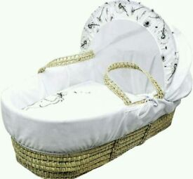 Kinder valley Dandelion Dream Plam moses basket with opal Folding stand white brand new in boxs.