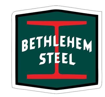 Bethlehem Steel Sticker Decal R7091 Railroad Railway Train Sign YOU CHOOSE SIZE (Train Stickers)