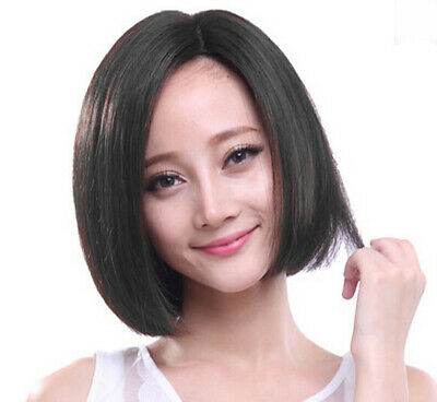 Styling Synthetic Wigs Halloween (Straight Bob Short Synthetic Halloween Bob Style Cosplay Wigs Black for Women)