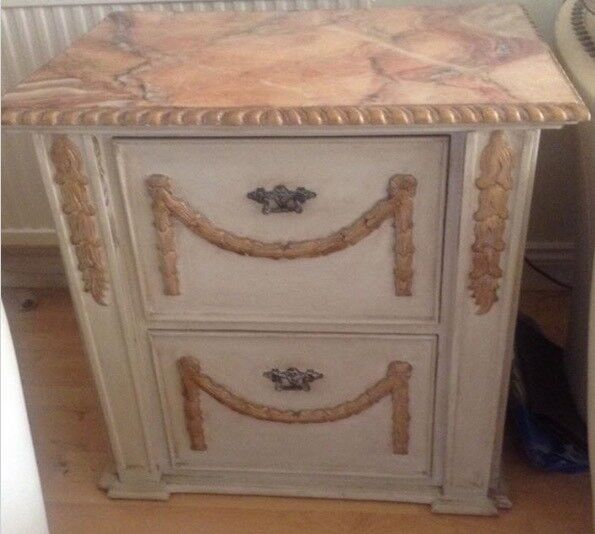 Beautiful Shabby chic 2 drawer filing /side table /cabinet £65