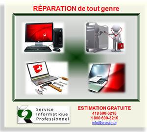SERVICE INFORMATIQUE (Réparation d'ordinateur) PLUS BAS PRIX Saguenay Saguenay-Lac-Saint-Jean image 2