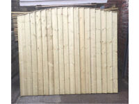 🌲Bow Top High Quality Tanalised Feather Edge Close Board Fence Panels