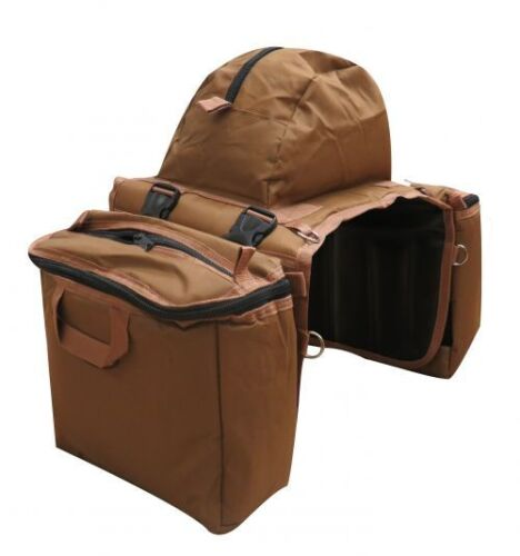 Showman Brown Heavy Nylon Cooler Saddle Bag Horse Tack Equine 6026