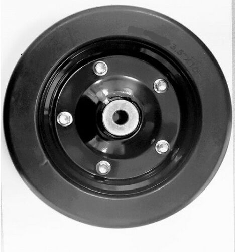 """10"""" x 3.25"""" Solid Wheel with 1/2"""" ID Bushings for Axle Hole For Finish Mowers"""