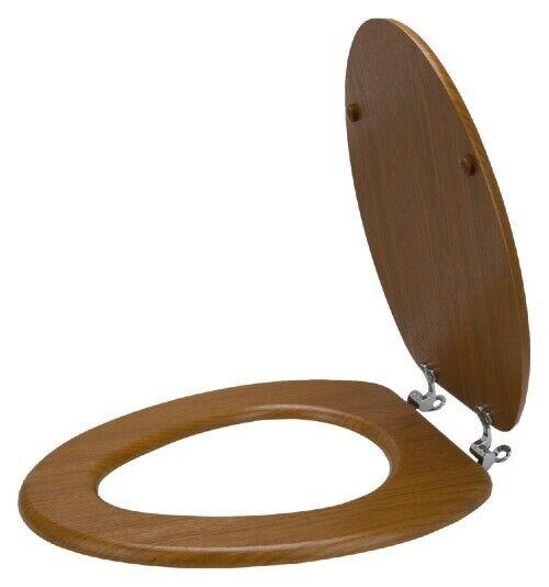 MintCraft T-19WO-3L Natural Oak Finish 19 Inch Elongated Toilet Seat