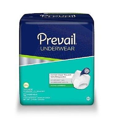 Prevail Extra Absorbency Underwear, 2X-LARGE, XXL,  PV-517 - Case of 48