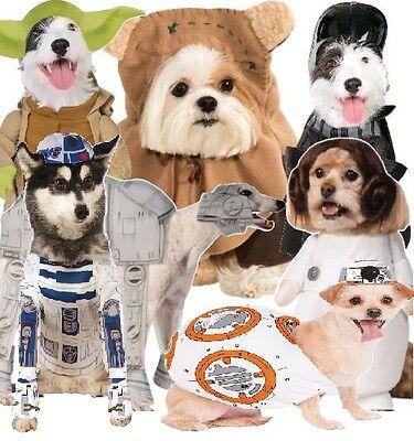 Hund Katze Star Wars Yoda Ewok angeguckt Leia Darth Vader BB8 R2D2 Kostüm