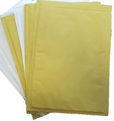 100  PCS White/Gold Bubble Postal Bags Envelopes G/4 240 x 330 mm gold