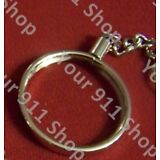 """Silver Platd Key Chain Holder for 1""""5/8 Challenge Prayer Coin(coin not included)"""