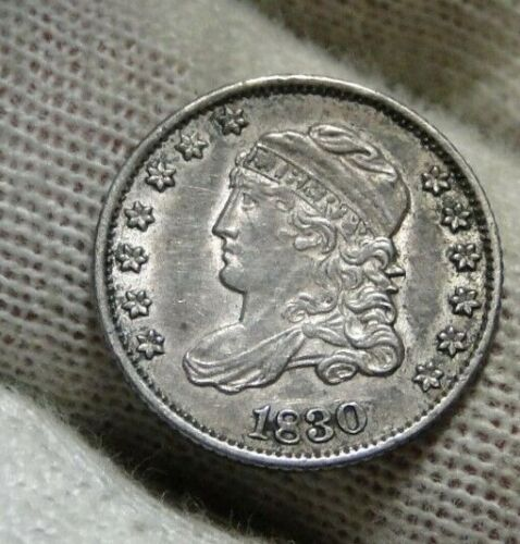 1830 Capped Bust Half Dime H10C 5 Cents - Nice Old Coin, Free Shipping  (9486)