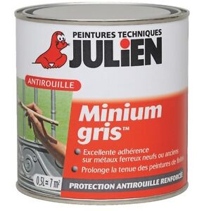 peinture antirouille minium gris julien protection anti corrosion tous metaux ebay. Black Bedroom Furniture Sets. Home Design Ideas